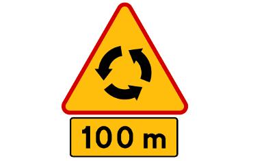 odległości znaków drogowych